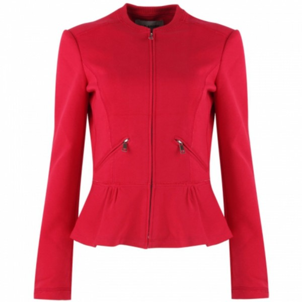 Figurumspielender SWEAT stretch Blazer ROSA / ROT