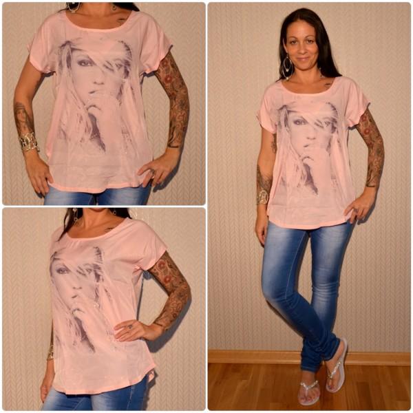 Stylisches Shirt Modell: Strasshand Lady HELLROSA