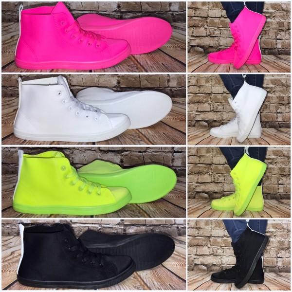 """WOW bequeme Highcut JERSEY Textil Sneakers """"super LEICHT & biegsam"""""""