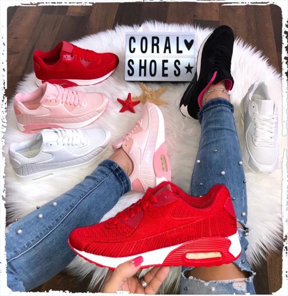 Fashion Damen SILK Print LUFT Sportschuhe Sneakers in 4 Farben