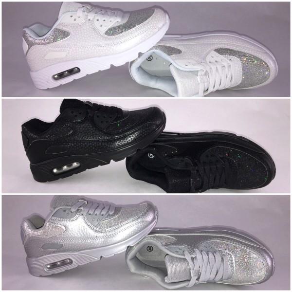 GLITTER / GLITZER New Style LUFT Sportschuhe / Sneakers