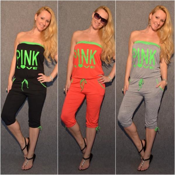 """Sommer Capri Overall """"PINK LOVE"""""""