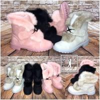 Herbst-Winter Boots / Stiefeletten mit Schnalle / warm gefüttert