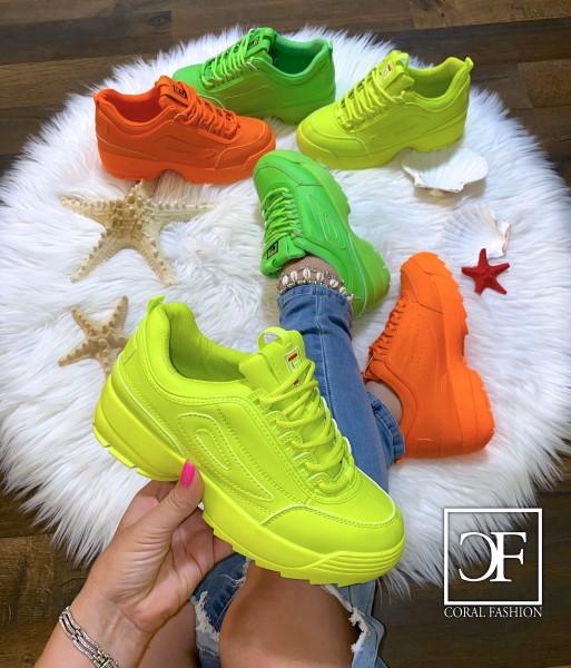 NEON Summer Damen Trend Chunky Sneakers Sportschuhe in 3 Farben