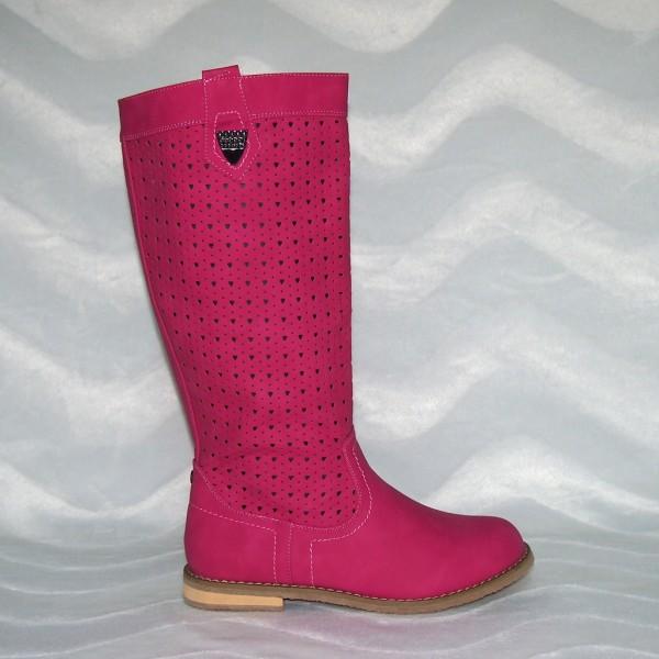Modischer Sommer/Herbst Stiefel mit Zipp Pink