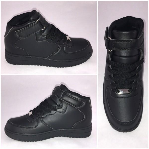 NEW Style Highcut KLETT Sportschuhe / Sneakers SCHWARZ