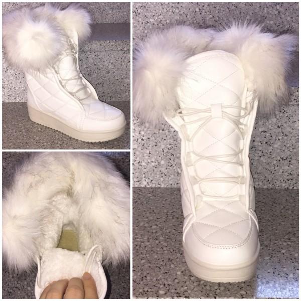 Lässige & super warme Sneakers STYLE Stiefeletten WEISS
