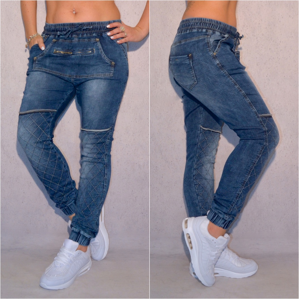 Damen Jeanshose mit Kängurutasche   Coral Fashion f09bd2a941