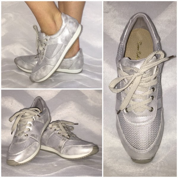 Modische Lowcut Sneakers SILBER