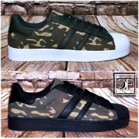 Flache HERREN LOW CUT 2 STRIPE Camouflage Sportschuhe Sneakers Freizeitschuhe