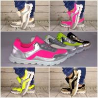 Coole Sportschuhe / Sneakers mit SILBER od. GOLD Einsatz