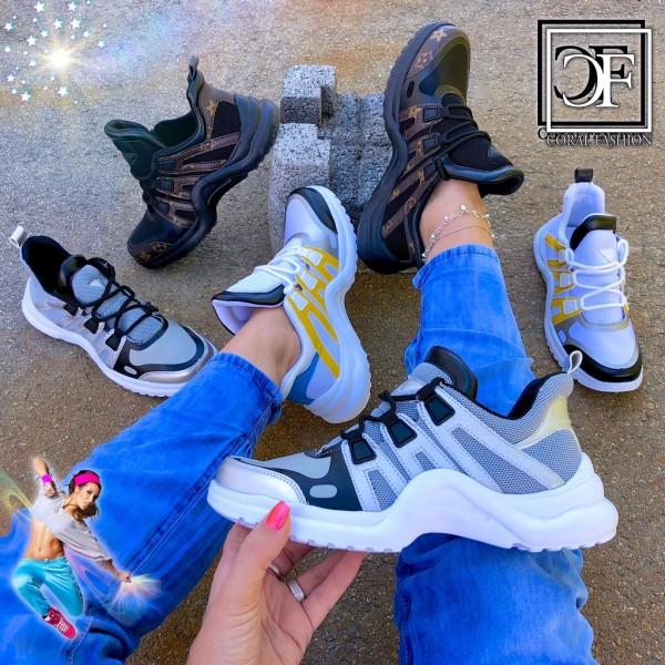 Damen Fashion TREND Sportschuhe / Sneakers Stripe Wave extra Leicht
