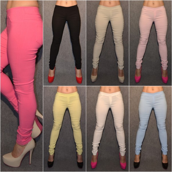 Sexy stretch JEGGINGS in Jeans Look