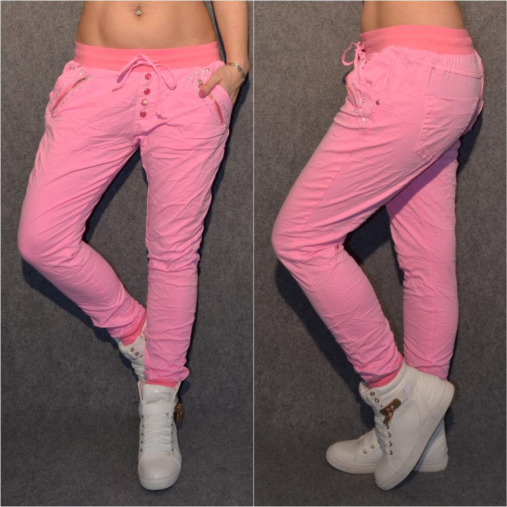 Lässige Harems Jeans mit Strass ROSA   Jeans   Damenmode   Mode   Coral  Fashion 203b4a6c7a