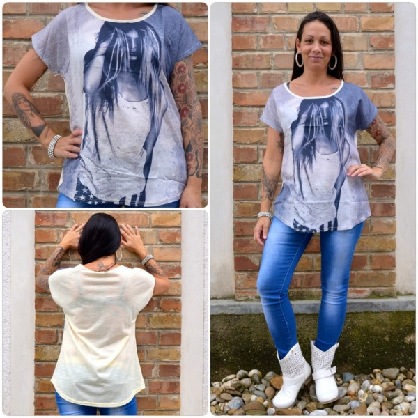 Stylisches Shirt Modell: LADY Haare CREME