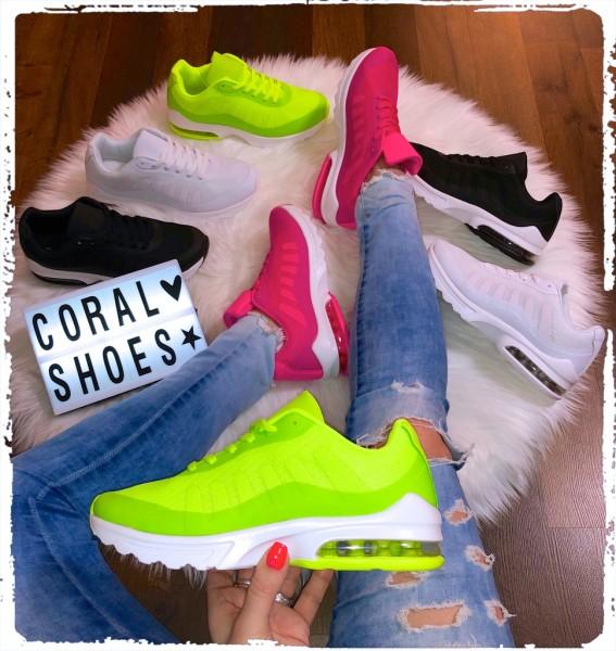 Wow XXL LUFT Damen Sportschuhe Sneakers mit weißer Sohle