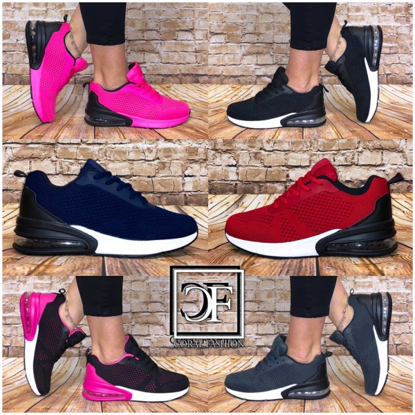 Damen Knitted XXL LUFT Sportschuhe Sneakers in 6 Farben Unisex