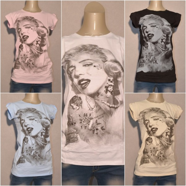 Shirt Mit Monroe Mcy T Tatoo Marilyn Print LUpMVGjqzS