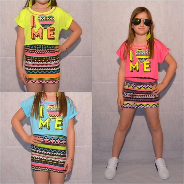 Süßes Kinder / Mädchen KLEID / Longshirt / 2 Teiler *I LOVE ME*