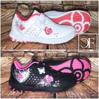 """Mädchen / KINDER """"Schmetterling"""" Sportschuhe / Sneakers mit Klettverschluss"""