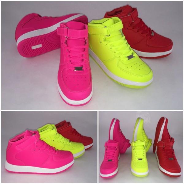 "NEW Look Highcut KLETT Sportschuhe / Sneakers ""WHITE stripe"""