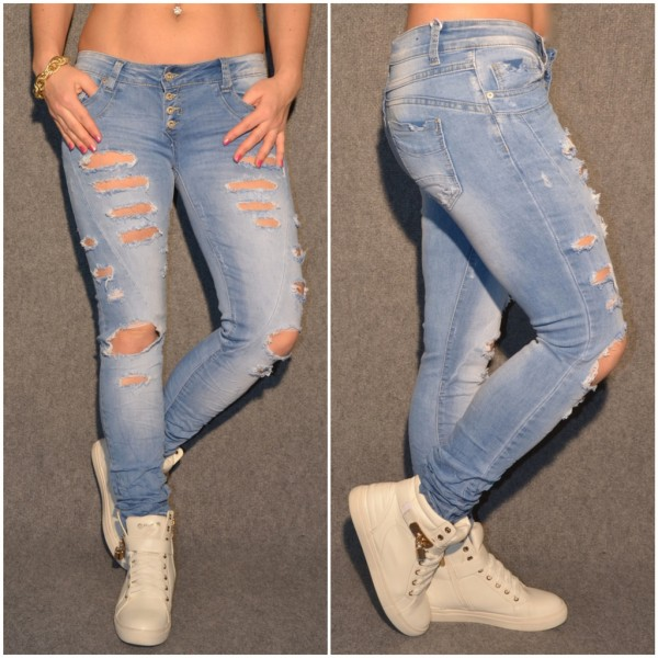 EXTREME Destroyed stretch JEANS