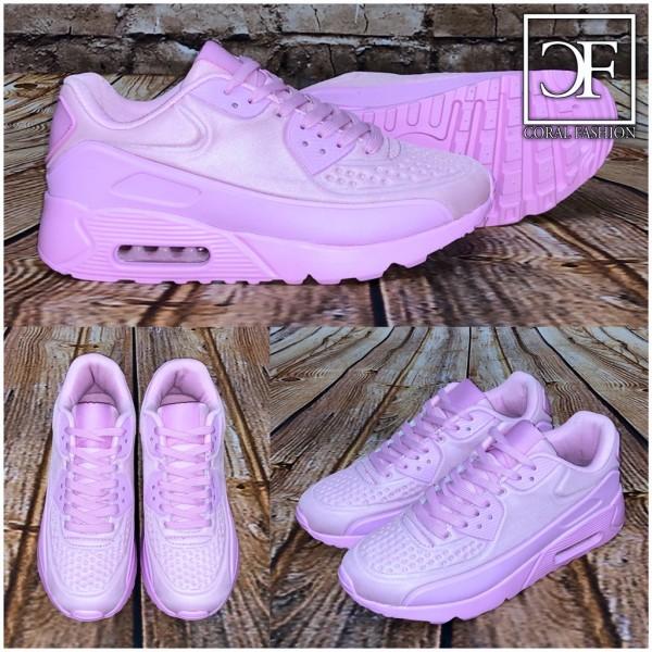 Bequeme Damen COOL print LUFT Sportschuhe Sneakers PINK