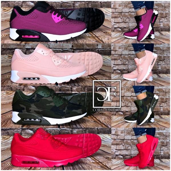 NET print LUFT Sportschuhe / Sneakers in 4 Farben