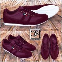 Sportlich Elegante HERREN Italy Schuhe / Sneakers / Sportschuhe BORDO