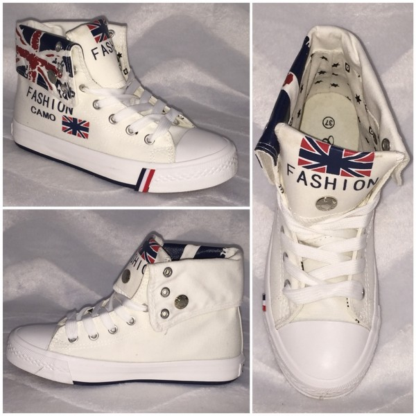 ENGLAND Denim 2 in 1 Sneakers WEISS