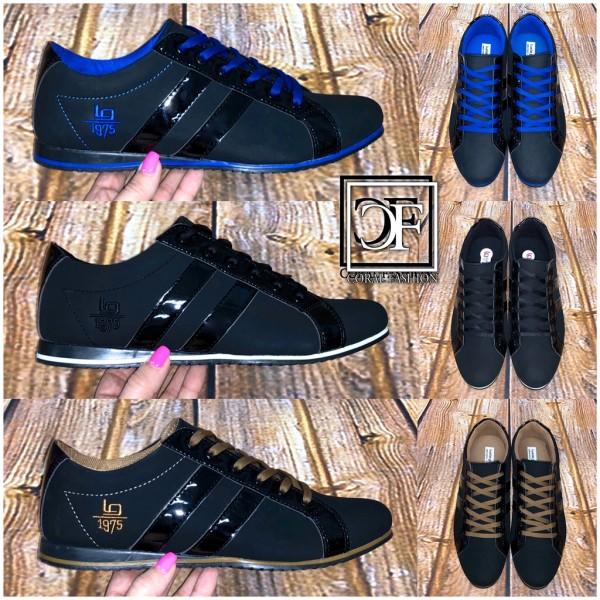 Sportlich Elegante HERREN Schuhe Sneakers Sportschuhe Schnürschuhe 2 Stripe Streifen