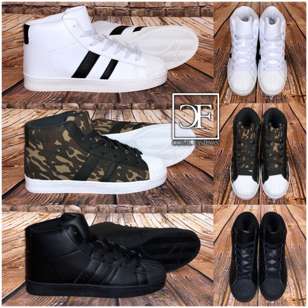 Herren HIGH CUT 2 STRIPE Sportschuhe / Sneakers in 3 Farben