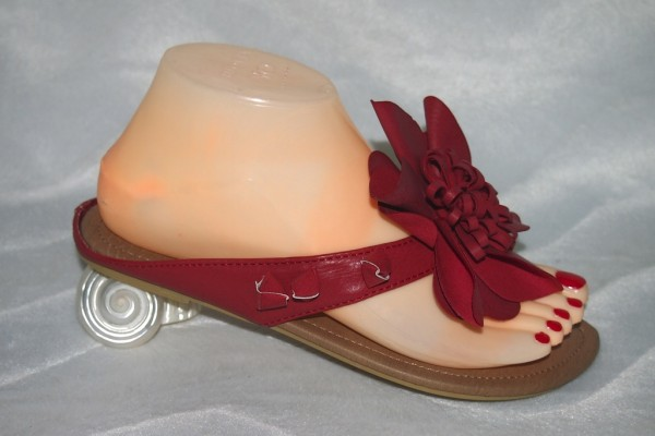 Flip Flops mit Blume Rot