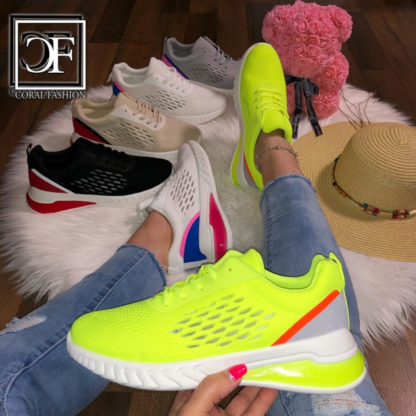 Damen Knitted SUMMER Trend LUFT Sportschuhe Sneakers in 5 Farben
