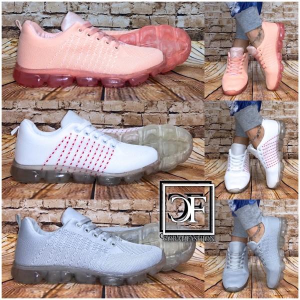 Ausgefallene Damen Sportschuhe Sneakers mit JELLY Style Sohle