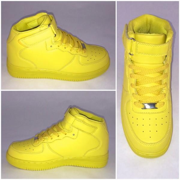 NEW Style Highcut KLETT Sportschuhe / Sneakers GELB