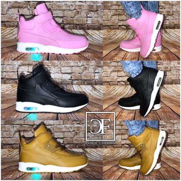 KINDER Highcut LUFT Sportschuhe / Sneakers mit BLINKLICHT