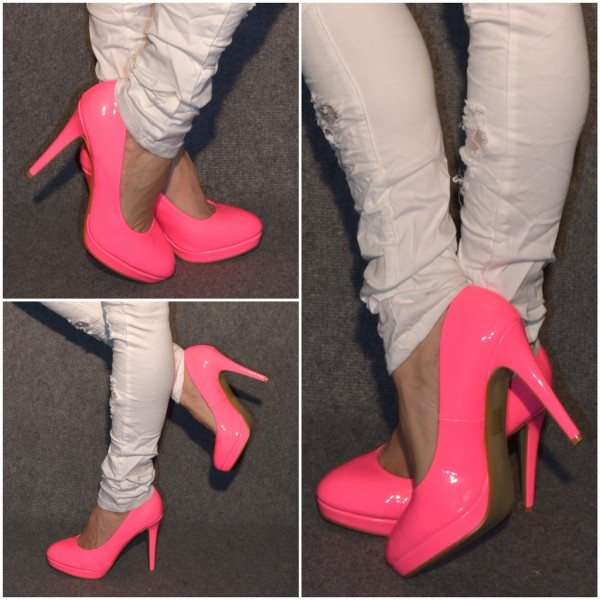 Sexy High Heels *lack* NEON PINK