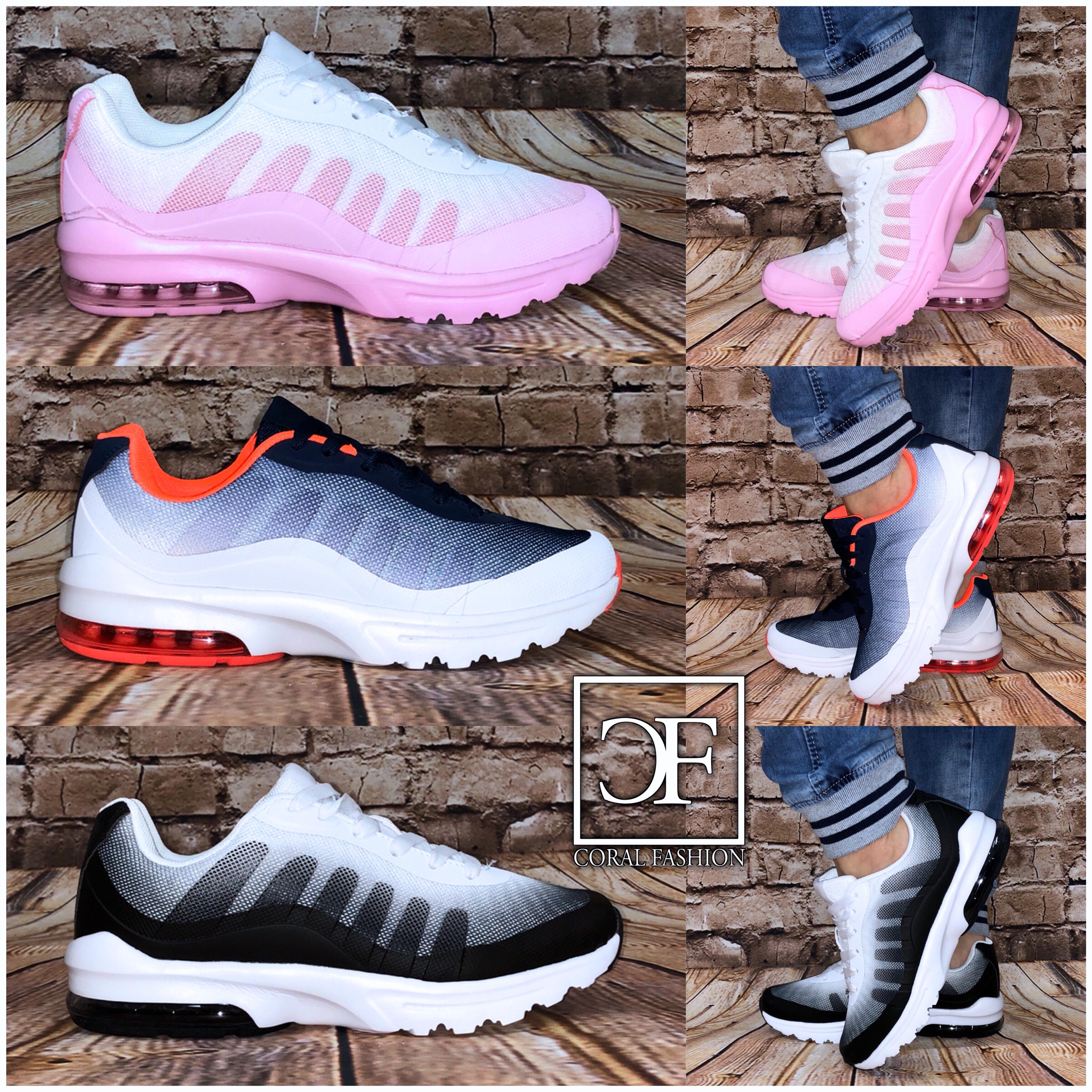 Wow XXL AIR Sportschuhe / Sneakers mit wei?er Sohle