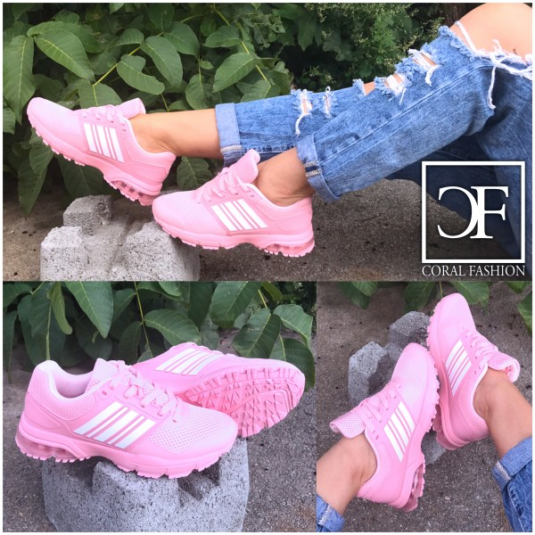 Wow STRIPE LUFT Sportschuhe / Sneakers ROSA