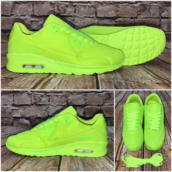"""Leichte Unisex Herren """"TEX"""" LUFT Sportschuhe / Sneakers Neon Gelb"""