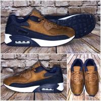 Bequeme AIR Sportschuhe / Sneakers CAMEL / NAVY