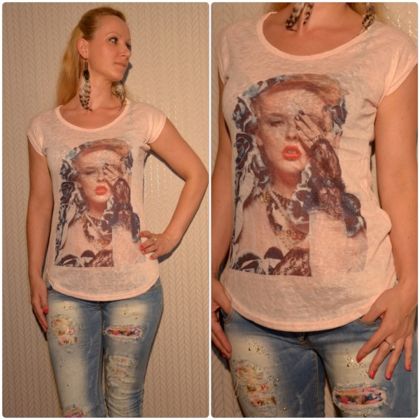 Stylisches Shirt Modell: Auge LADY HELLROSA