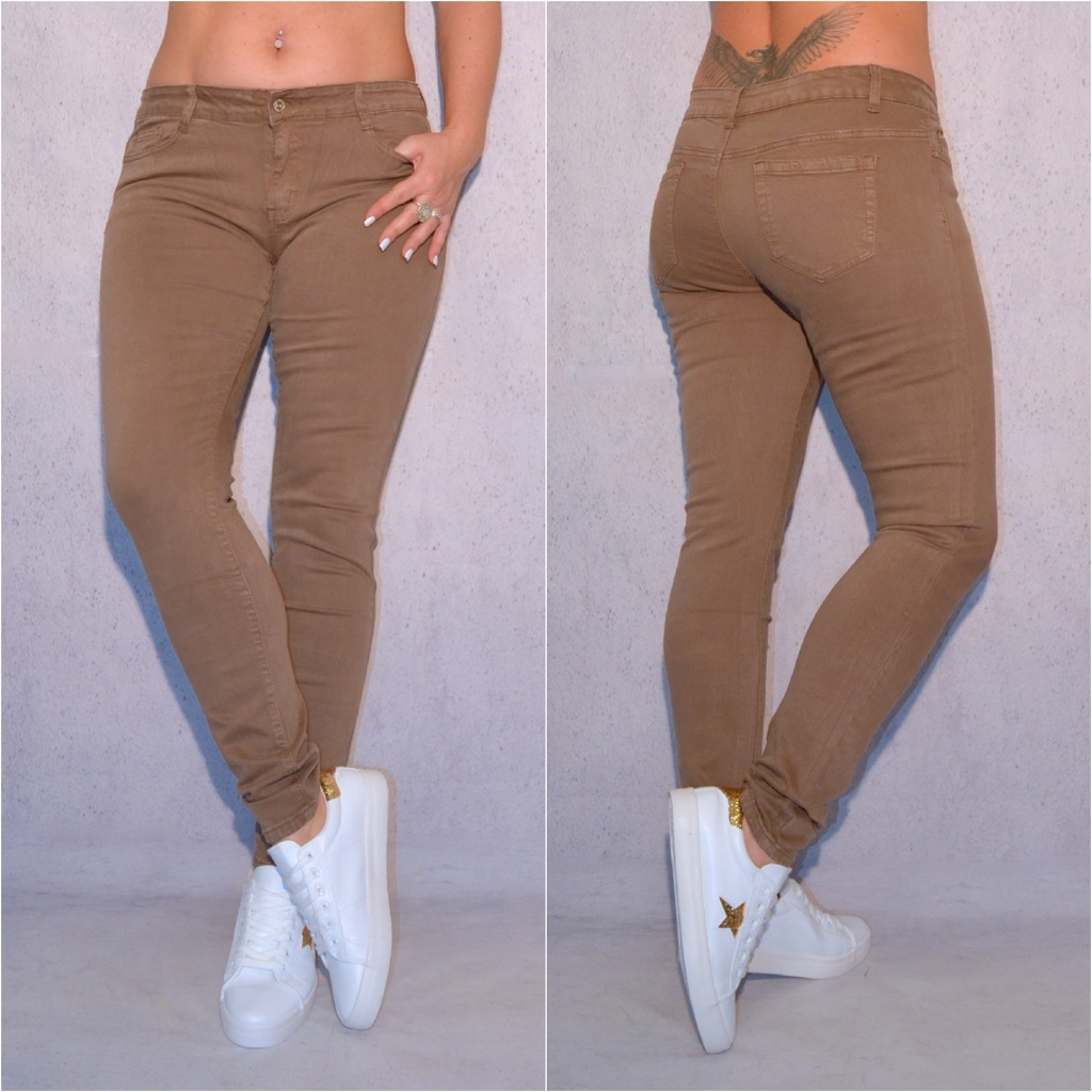 0637f51079 Damen Color Jeans Hose Stretch Braun | Coral Fashion