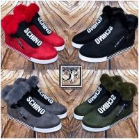 Herbst Winter SCHINO SPORT Fashion Damen Sneakers Boots mit seitlichem Zipp / gefüttert
