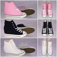 DENIM Textil Highcut Keil Sneakers / Keilsneakers