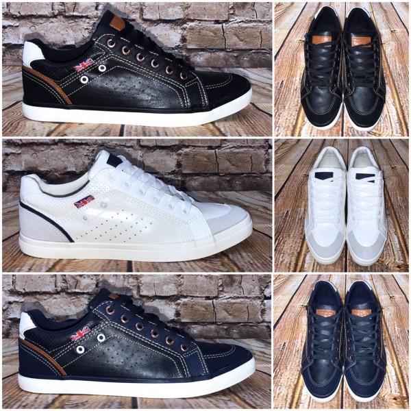 Bequeme Kunstleder HERREN Lowcut Sneakers / Sportschuhe