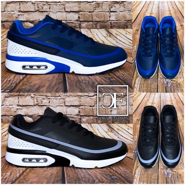 Bequeme HERREN Stripe LUFT Sportschuhe / Sneakers in 2 Farben