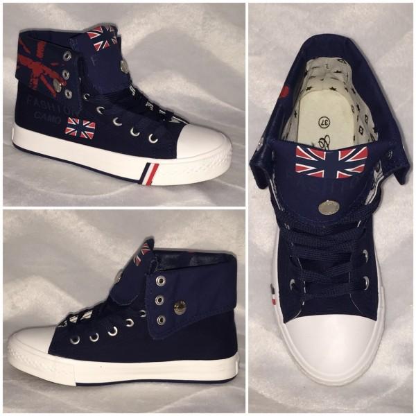 ENGLAND Denim 2 in 1 Sneakers NAVY BLAU