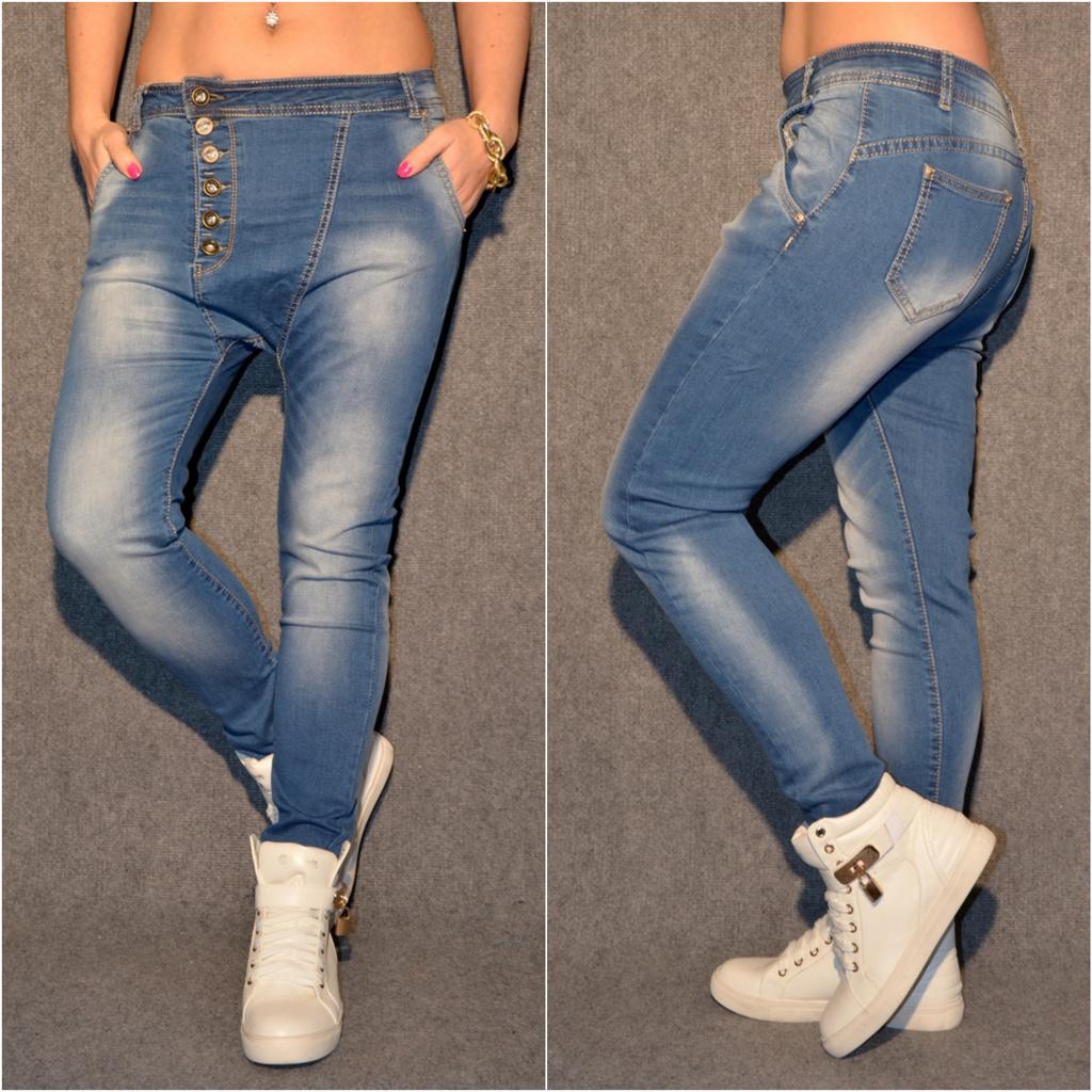 ANGEBOT   HAREMS stretch JEANS mit seitlichen Knöpfen   Jeans   Damenmode    Mode   Coral Fashion ac0b91a2f7